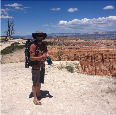 Kadin Goldberg out painting at Bryce Canyon National Park, UT